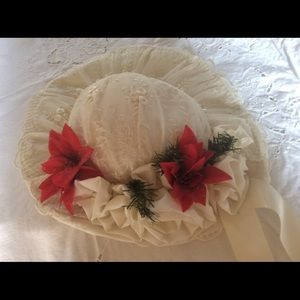 Vintage Christmas Holiday Wedding Picture Hat
